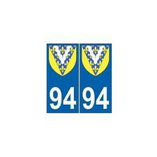 94 Val de Marne autocollant plaque blason armoiries stickers département droits