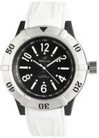 Time Tech Herrenuhr Schwarz Weiß Analog Silikon Quarz Armbanduhr D-227471100012