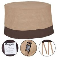 """48"""" Large Waterproof Outdoor Patio Round Table Cover Furniture Protection Chairs"""