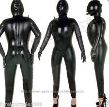 NEW 100%Latex Rubber Gummi Inflatable Mask Bodysuit Catsuit Suit Leotard Unitard