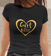 GIRL BOSS T-shirt | Black Shirt | Ladies Womens Cotton Tee