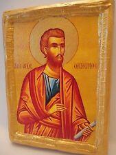 Saint Onesimus Onesimos Onisimos Greek Eastern Orthodox Icon Art on Real Wood