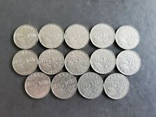 1922 to 1936 5 Cents George Canadian Nickels 14 coins -1926 Near Included #3