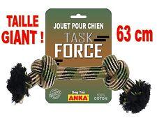 JOUET POUR CHIEN CORDE A NOEUDS GIANT !! POUR TRÈS GRAND CHIEN Long 63 cm AJ1103