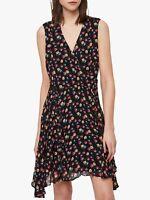 Brand New All Saints Miller Kukio Floral Black Dress Size 12  £180