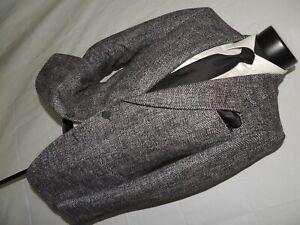 Pierre Cardin men's vintage 1980's Gray tweed jacket coat size 36 R