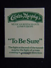 CARLOS MURPHY'S MEXICAN RESTAURANTS & PAWN SHOPS HIGH ARMADALE 207312 MATCHBOOK