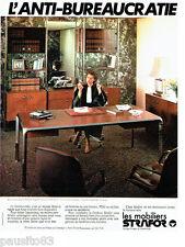 PUBLICITE ADVERTISING 036 1978  les mobiliers de bureau Strafor
