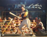 Jose Canseco Signed Athletics 16x20 Photo with Inscription JSA WITNESSED COA