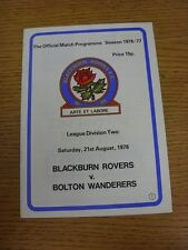 21/08/1976 Blackburn Rovers v Bolton Wanderers  (Excellent Condition)