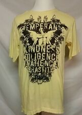 BLAC LABEL Men's XL Premium Yellow Shirt KINDNESS PATIENCE Designer EUC
