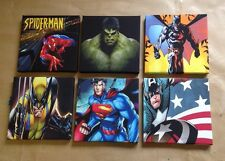 6 MARVEL + DC SUPERHERO PICTURES On Canvas 8 X 8 Inches