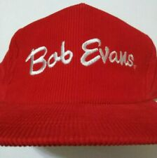 cf1f2000e91 Bob Evans Hat - Red Vintage Corduroy Snapback Cap - New Condition