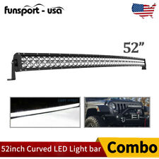 "52""inch 700W Curved LED Light Bar Combo Offroad Roof Light For Truck ATV 50/52"""