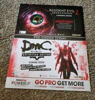 Rare Capcom: Resident evil & DMC Gamestop poster 28×22