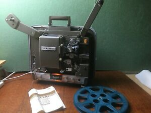 Vintage Elmo 16F 250H 16mm Projector with Case and Speaker. Excellent condition.