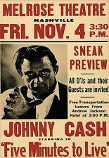 Art Poster Johnny Cash 5 Mins to Live Poster 1961 Print