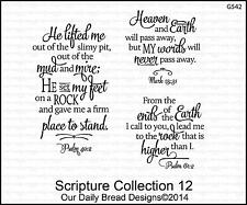 Our Daily Bread Designs Cling Stamp Set Scripture Collection 12, Bible Verses
