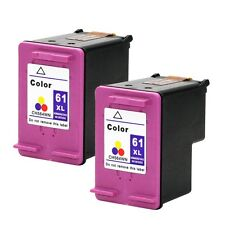 2PKs HP 61 XL Color Ink Cartridges For Deskjet 3511 3512 3516