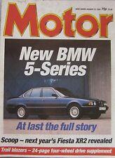 Motor magazine 23/1/1988 featuring Overfinch, Range Rover, Lamborghini, BMW
