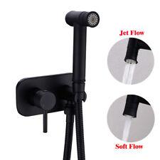 Brass Mixer Handheld Bidet Diaper Sprayer Toilet Seat Attachment Set Wall Mount
