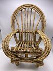 Antique Bent Twig Wood Doll Teddy Bear Chair Rustic Sturdy