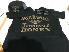 JACK DANIELS TENNESSEE HONEY LARGE  T SHIRT CAP  & SUNGLASSES BUNDLE