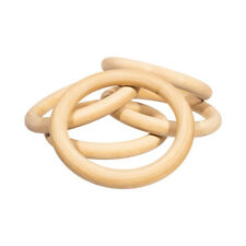 Wood Round Ring Made of Natural Wood for Macramé & Diy Crafts - 2 Sizes
