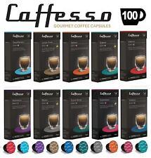 100 x Caffesso Nespresso Compatibile Caffè Capsule 10 misto confezione di selezione