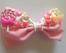 Candy Sprinkle Hair Bow fairy kei Decora fonte égouttement kawaii rose pastel