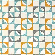 New Rasch Wallpaper Retro Geometric Squares Pattern In Orange Teal Charcaol