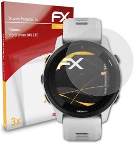 atFoliX 3x Screen Protection Film for Garmin Forerunner 945 LTE matt&shockproof
