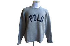 Maglione Polo Ralph Lauren - Girocollo - Mis. L - Col. Grigio logo POLO Blu