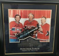 JEAN BELIVEAU & GUY LAFLEUR 13x16 Dual Signed framed ROCKET RICHARD Frameworth