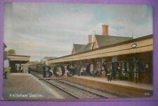 More details for postcard c.1905 the railway station hailsham sussex