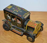 "Vintage LINEMAR TIN LITHO OLD JALOPY Friction Toy Japan Marx 4.75"" Long"