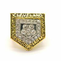 1997 Cleveland Indians Grissom World Series 18k Gold Plated Championship Ring