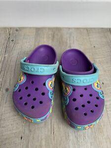 Kids Purple Crocs Size 11