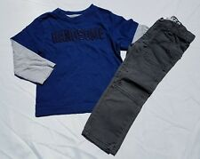 NWT Crazy 8 Boys Size 4T 5T Cuffed Rocker Jeans /& Long Sleeve Tee Shirt 2-PC SET
