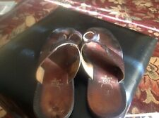 Men's Flat Sliders Slippers Slip On Bata Outdoor Shoes size 8