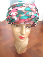 BEAUTIFUL VINTAGE FEATHER 1950s HAT
