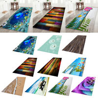 Living Room Area Rug Runner Kitchen Bedroom Anti-Skid Floor Mat Carpet 3D