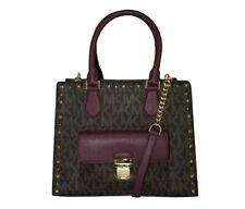 NWT Michael Kors 35F7GBDT6B - BROWN PLUM Handbags BRIDGETTE MSRP:458