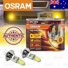 2x H1 448 OSRAM Fog Breaker DuoBox YELLOW Spot Bulbs 2600K Lamps for HIGH BEAM