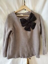 Kate Spade New York Gray Back Bow 100% Wool pullover sweater XX-Large