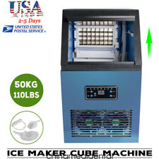 Usa Commercial Ice Maker Cube Machine Stainless Bar 110lbs24h 230w 110v Fda