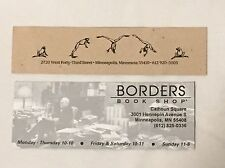 Rare Vintage Bookmarks - Borders Book Shop Out-of-business Store & Wild Rumpus