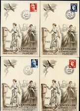 MONACE 1949 RED CROSS SC#B99a  YVERT#3A/3B PERF & IMPERF SHEETS OF FOUR MINT NH