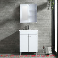 "24"" Bathroom Vanity Wood Cabinet Undermount Sink w/ Wall Mount Mirror Shelf Set"