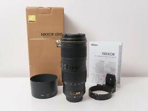Nikon AF-S 70-200mm F4 G ED VR Full-frame NIKKOR Lens